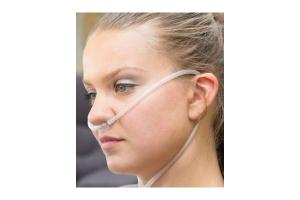 Doppellumen- Nasenbrille Erw., soft, gebogene Ansatzstücke, mit Schlauch 1.8 m