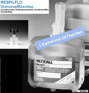 Sonderangebot! Sterilwasser RESPIFLO 325 ml mit Adapter 1 Karton à 20 Stück Sonderangebot!