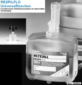 Sterilwasser RESPIFLO 500 ml mit Adapter
