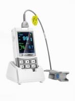 Hand-Pulsoximeter MD-300 M Handheld von ChoiceMMed mit Sensor Tragetasche Silikonschutzhülle