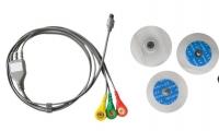 EKG-Kabel mit 3 Ableitungen + 10 Haftelektroden für portable EKG-Geräte MD100B und MD100E