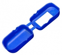 Silikonprotektor Schutzhülle blau für Fingerpulsoximeter